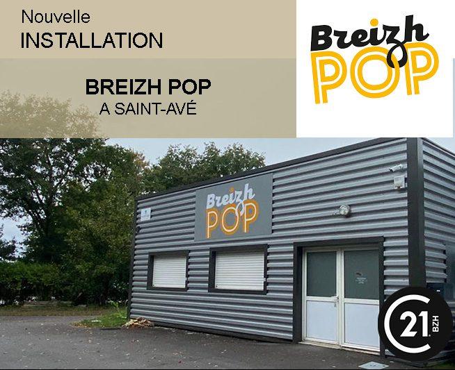 CENTURY 21 BZH VANNES VENTE LOCATION BUREAU ENTREPOT LOCAL D'ACTIVITE LOCAL COMMERCIAL BREIZH POP